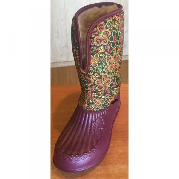 Фото Зимняя обувь, Женская Аляска с рисунком (