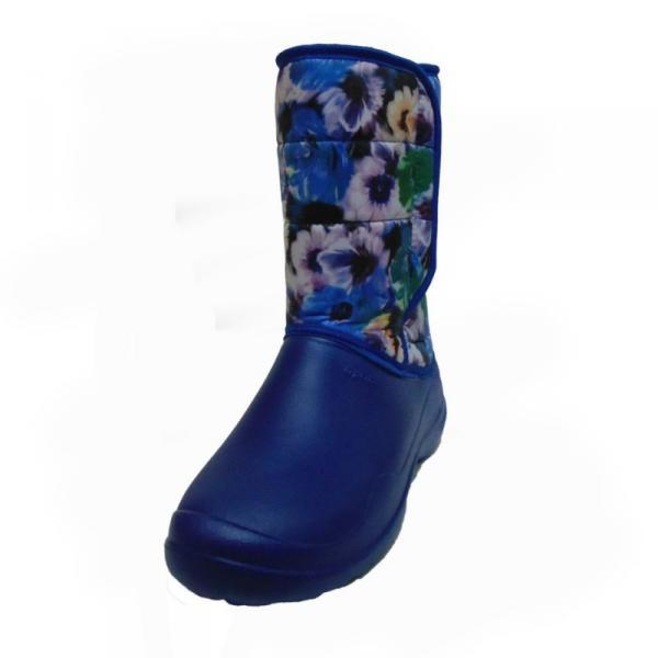 Фото Зимняя обувь, Женская Аляска с цветочками на липучке (