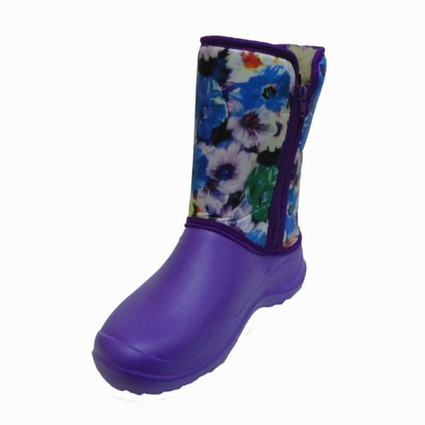 Фото Зимняя обувь, Женская Аляска с цветочками на замке (