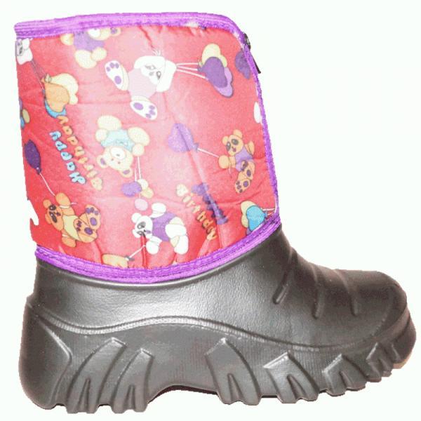 Фото Зимняя обувь, Детская Сапоги ЭВА детские с мехом на замке (