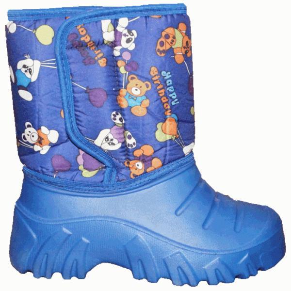 Фото Зимняя обувь, Детская Сапоги ЭВА детские с мехом на липучке (