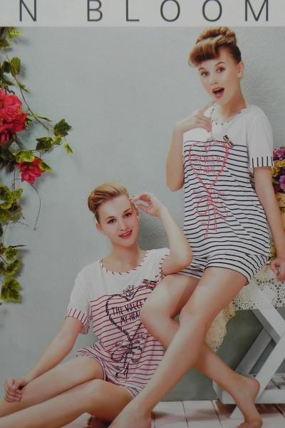 Фото Домашняя одежда, Короткий рукав Женский костюм Shoplove | артикул 5397