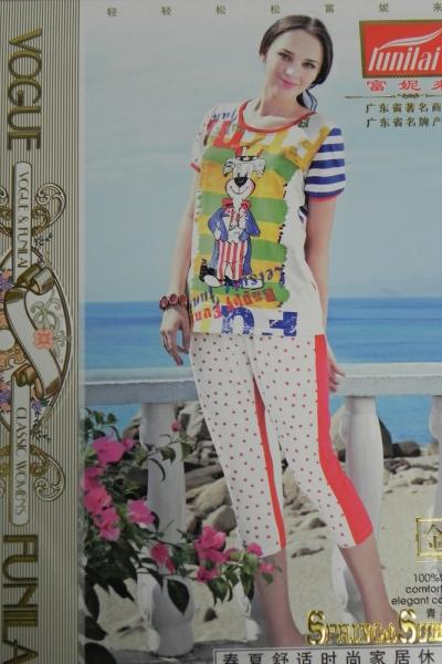 Фото Домашняя одежда, Короткий рукав Женский костюм Funilai   артикул 8181