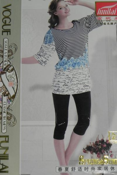 Фото Домашняя одежда, Короткий рукав Женский костюм Funilai   артикул 6475