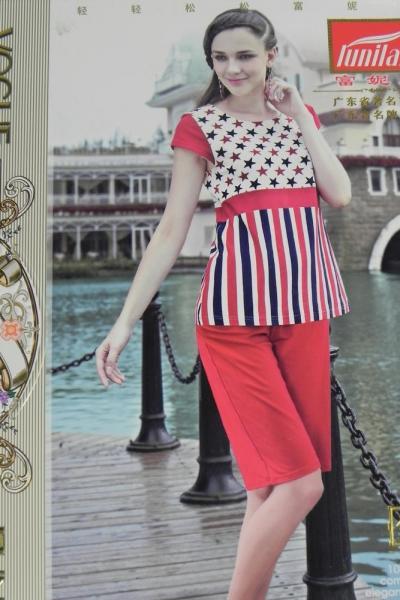 Фото Домашняя одежда, Короткий рукав Женский костюм  | артикул 8220