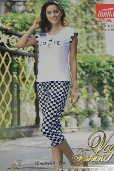 Фото Производители, FUNILAI, Женское, Домашняя одежда, Короткий рукав Женский костюм Funilai | артикул 8512