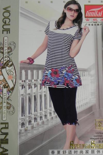 Фото Домашняя одежда, Короткий рукав Женский костюм Funilai | артикул 6526