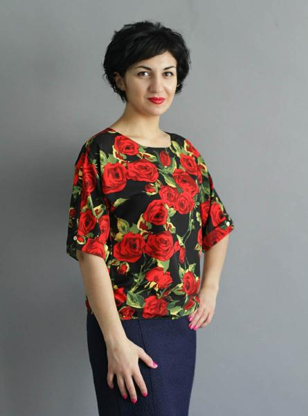 Блуза A36 Розы