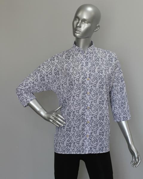 Рубашка А64 Черно-белый
