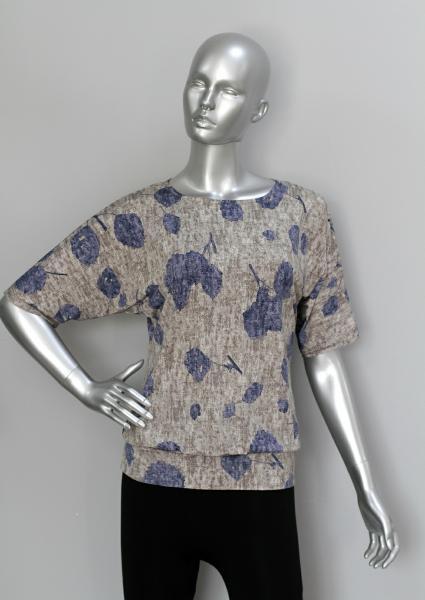 Блуза ТР76 Цветы на сером