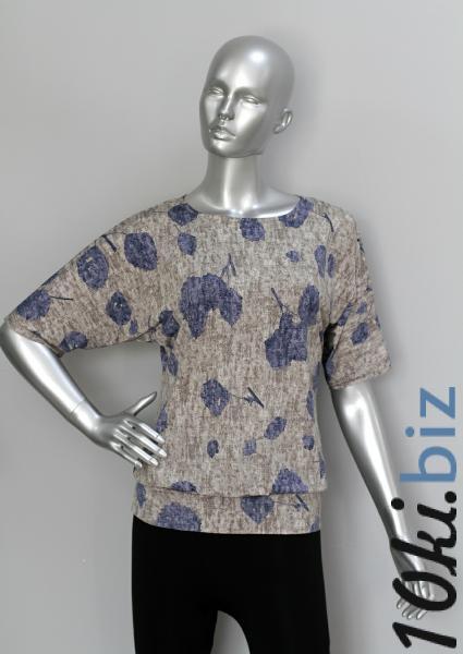 Блуза ТР76 Цветы на сером Блузки и туники женские на рынке Восток в Новосибирске