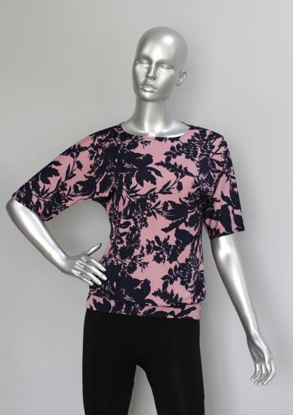 Блуза ТР76 Цветы на розовой пудре
