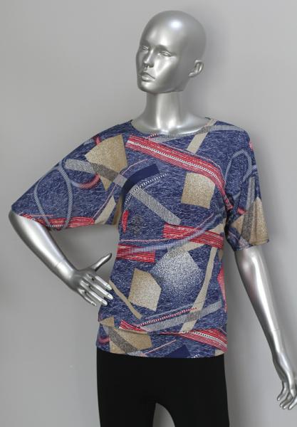 Блуза ТР76 Геометрия (синий)