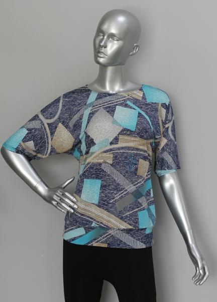 Блуза ТР76 Геометрия (серый)