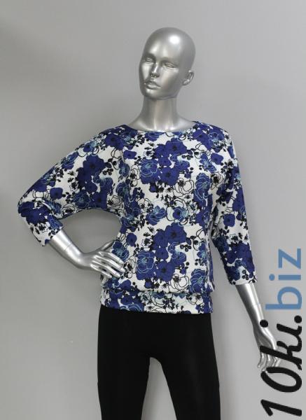 Блуза ТР47.1 Цветы/молочный Блузки и туники женские на рынке Восток в Новосибирске
