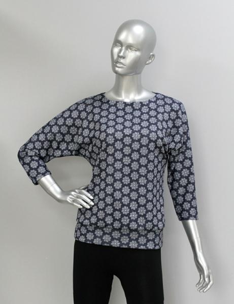 Блуза ТР47.1 Цветочки на синем