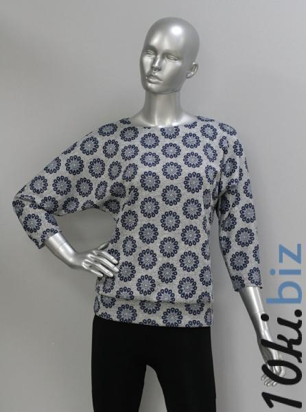 Блуза ТР47.1 Цветочки на сером Блузки и туники женские на рынке Восток в Новосибирске