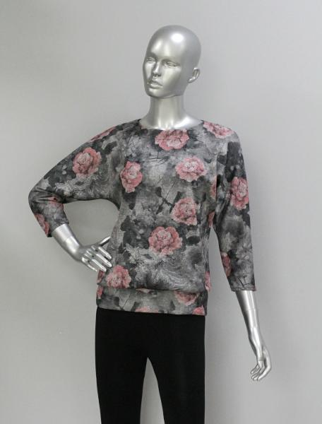 Блуза ТР47.1 Розовые цветы