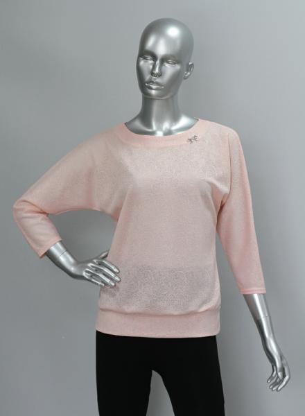 Блуза ТР47.1 Персик узоры