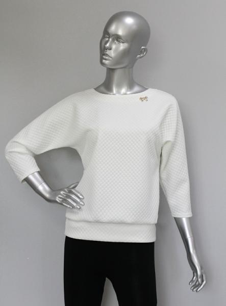 Блуза ТР47.1 Молочный/ромбик