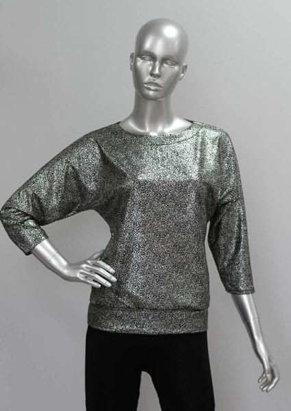 Блуза ТР47.1 Черное серебро