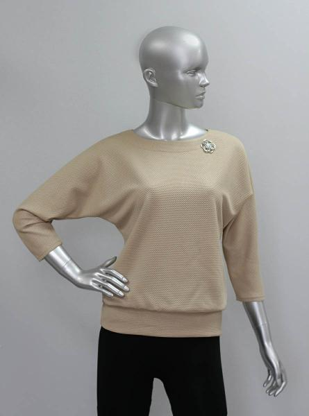 Блуза ТР47.1 Бежевое серебро