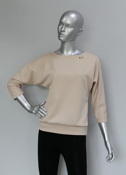 Блуза ТР47.1 Беж/цветочки