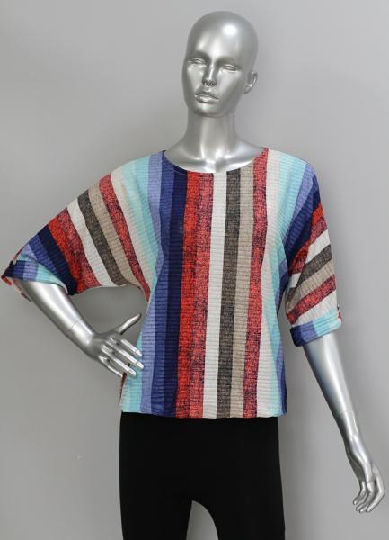 Блуза ТР114 Полоски (голубой)