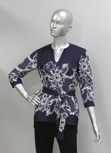 Блуза ТР108 Узор на синем