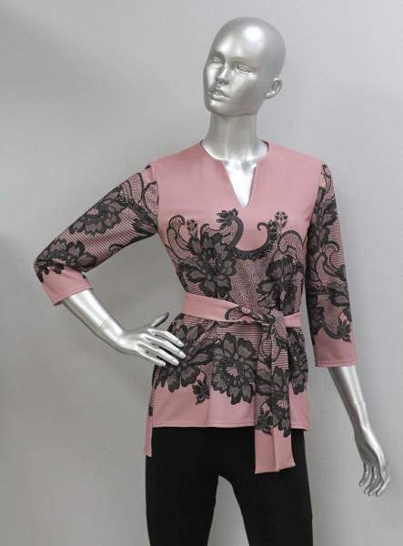 Блуза ТР108 Узор на розовом