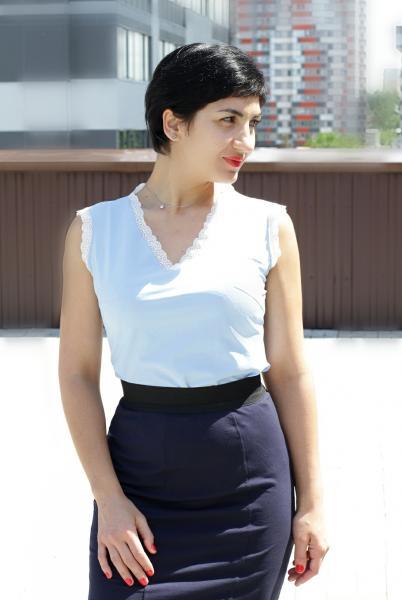 Блуза А67 Однотонные