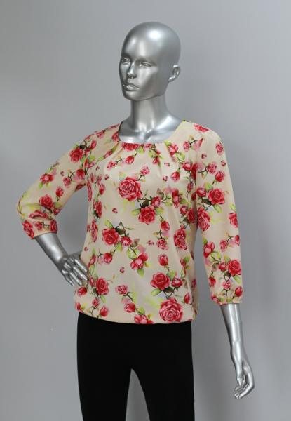 Блуза A61 Розы на персике