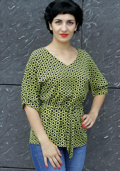 Блуза A56 Подсолнухи