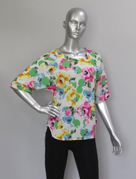 Блуза A39 Яркие розы