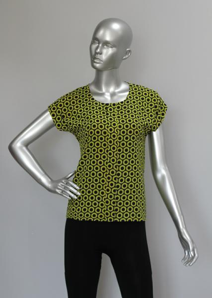 Блуза A38 Желтые подсолнухи