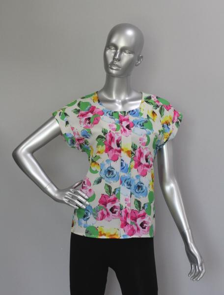 Блуза A38 Яркие розы