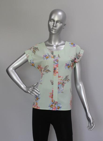 Фото Блузы Блуза A38 Цветы на мяте