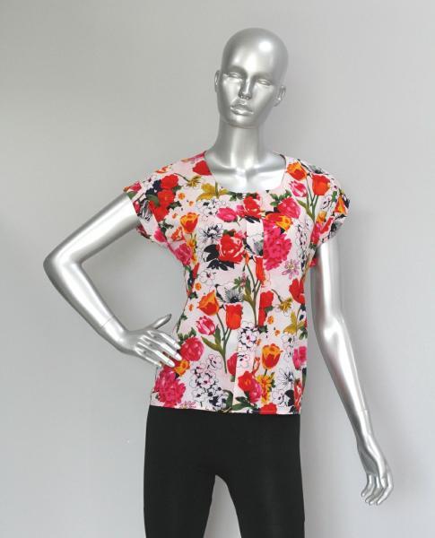 Фото Блузы Блуза A38 Розы/тюльпаны