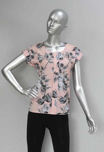 Фото Блузы Блуза A38 Розы/Персик