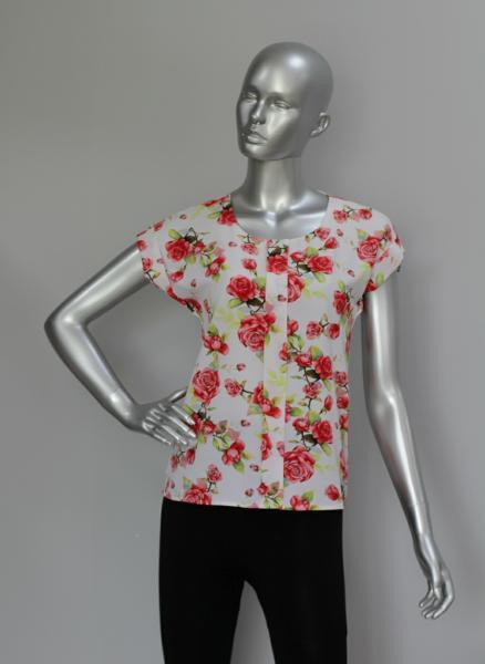 Фото Блузы Блуза A38 Розы микс