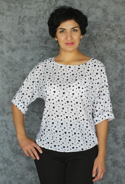Фото Блузы Блуза A36.1 Сердечки Краш