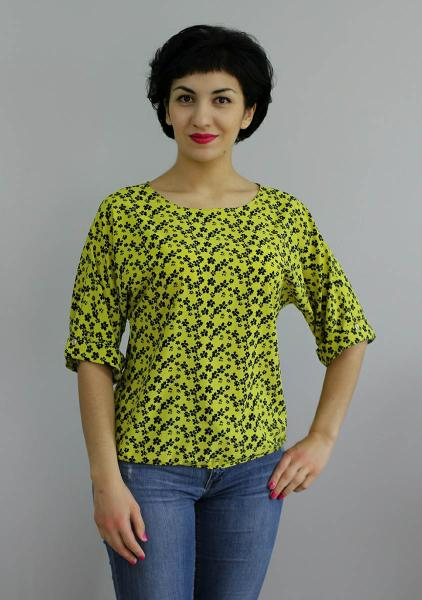 Фото Блузы Блуза A36 Полянка на желтом