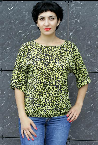 Блуза A36 Желтая полянка