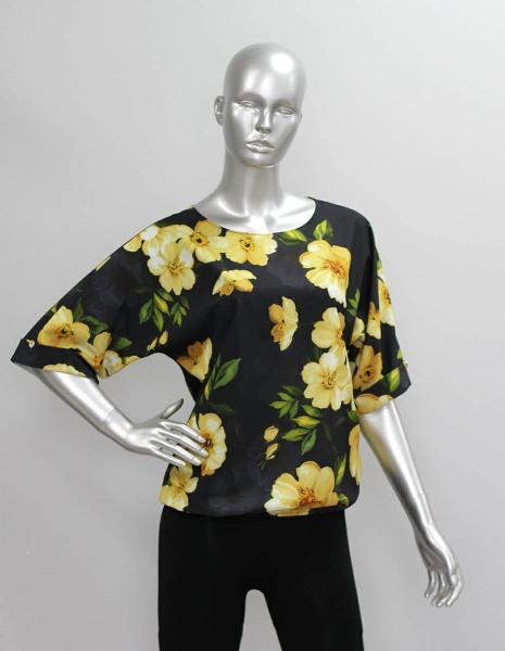 Фото Блузы Блуза A36.1 Желтые цветы