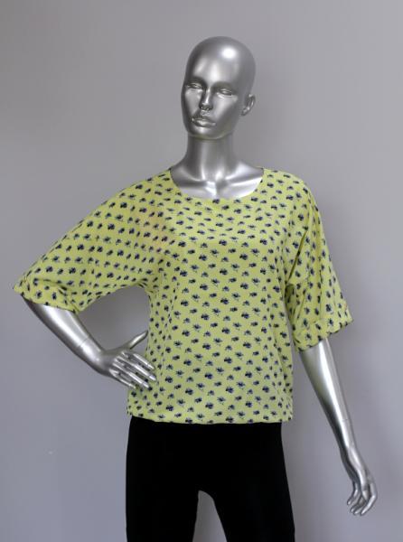 Фото Блузы Блуза A36.1 Васильки/желтый