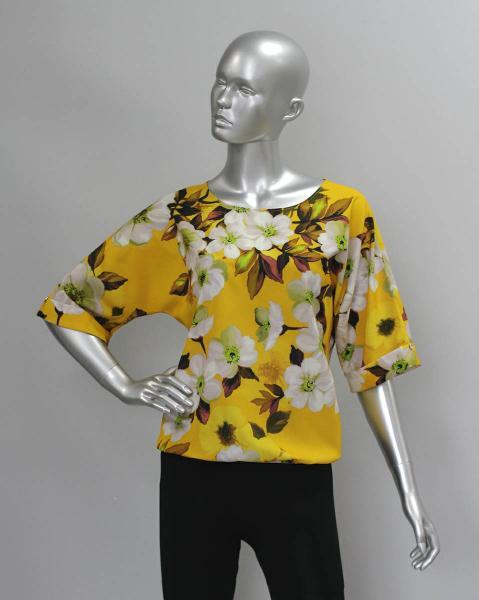 Фото Блузы Блуза A36.1 Цветы на желтом