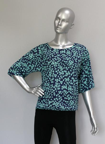 Фото Блузы Блуза A36.1 Цветочки/бирюза