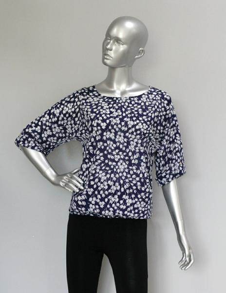 Фото Блузы Блуза A36.1 Цветочки/белый