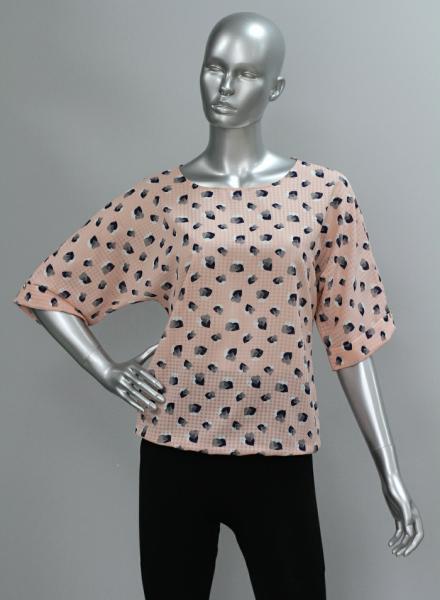 Фото Блузы Блуза A36.1 Сердечки/персик