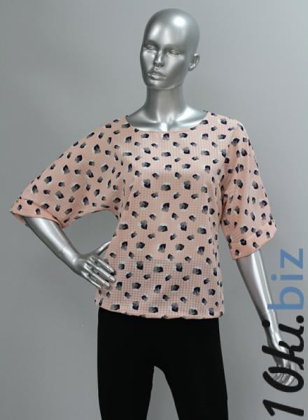 Блуза A36.1 Сердечки/персик Рубашки женские на рынке Восток в Новосибирске